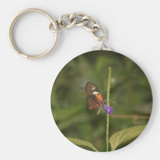 Perched Basic Round Button Key Ring