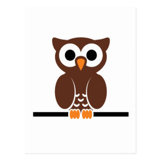 Perched Brown Owl Postcard