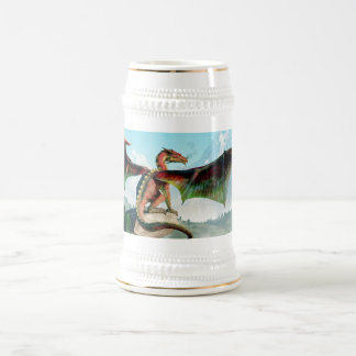 Perched Dragon Beer Stein