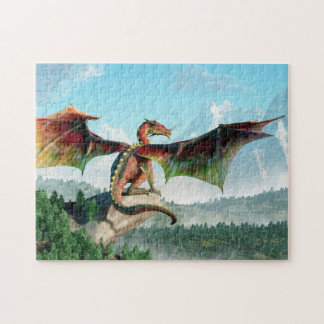 Perched Dragon Jigsaw Puzzle