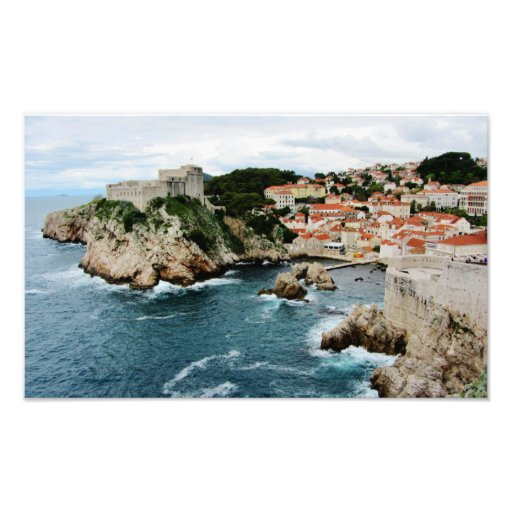 Perched on the Adriatic Photographic Print