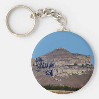 Perched on top basic round button key ring
