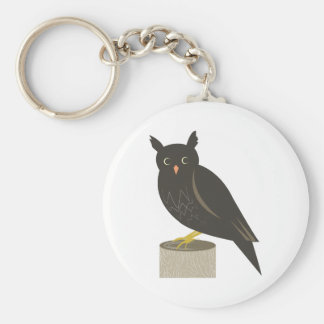 Perched Owl Keychain