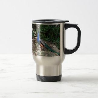 Perched Peacock Travel Mug