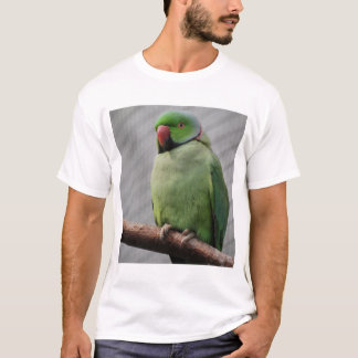 Perched Rose-ringed Parakeet T-Shirt
