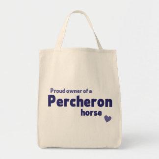 Percheron horse grocery tote bag