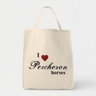 Percheron horses tote bag