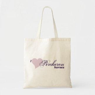 Percheron horses budget tote bag
