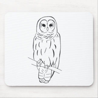 Perching Owl mousepad
