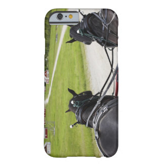 Perchon horses pulling cart  against historic barely there iPhone 6 case
