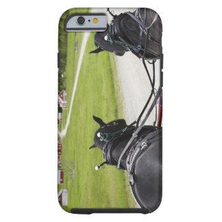 Perchon horses pulling cart  against historic tough iPhone 6 case