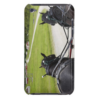 Perchon horses pulling cart against historic iPod touch Case-Mate case