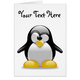 Percival the Peculiar Penguin Cartoon Greeting Card