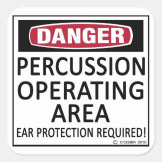 Percussion Operating Area Square Sticker