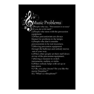 Percussion Problems List Poster