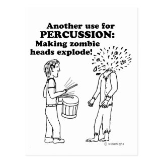 Percussion Zombie Explode Postcard