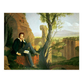 Percy Bysshe Shelley  1845 Postcard