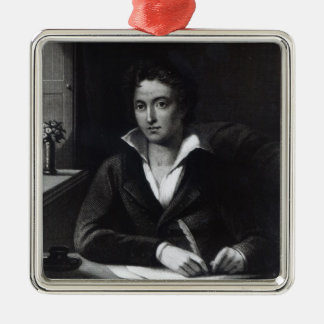 Percy Bysshe Shelley, engraved by William Holl Christmas Ornament