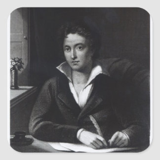 Percy Bysshe Shelley, engraved by William Holl Square Sticker