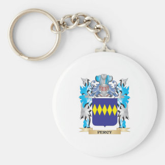 Percy Coat of Arms - Family Crest Basic Round Button Key Ring