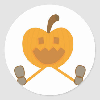 Percy Pumpkin Round Sticker