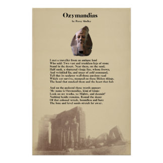 Percy Shelley's Ozymandias Poem Poster