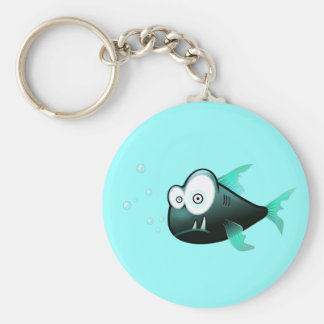 Percy the Piranha Fish Key Ring