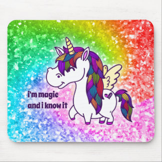 Percy the Polished Unicorn Mouse Mat