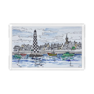 Perdrix Lighthouse, Loctudy | Brittany, France Acrylic Tray