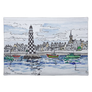 Perdrix Lighthouse, Loctudy | Brittany, France Placemat