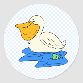 Perdy Pelican Classic Round Sticker