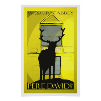 Pere David deer poster art