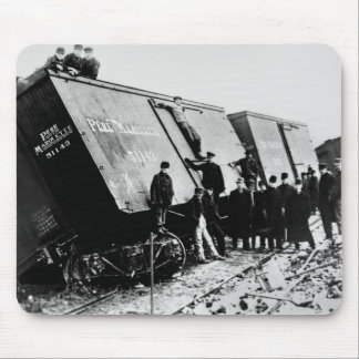 Pere Marquette Railway Freight Wreck Mousepad