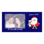 Père Noël et Manchot  Santa Claus cartes photo Photo Cards