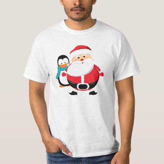 Père Noël et Manchot Santa Claus t-shirt
