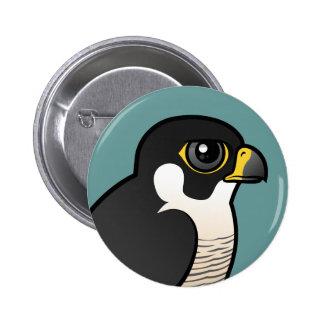 Peregrine Falcon 6 Cm Round Badge