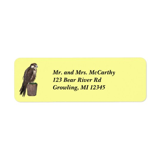 Peregrine Falcon Address Avery Label