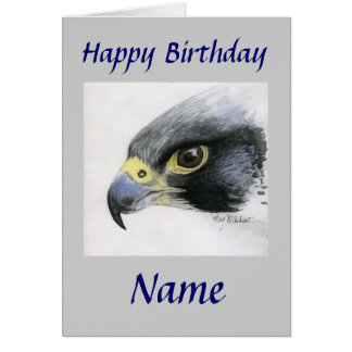 Peregrine Falcon-Happy Birthday Card