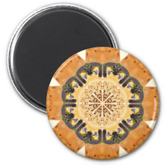 Peregrine Falcon Kaleidoscope 6 Cm Round Magnet
