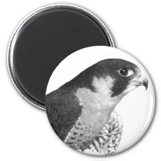 Peregrine Falcon-Pencil 6 Cm Round Magnet