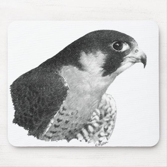 Peregrine Falcon-Pencil Mouse Pad