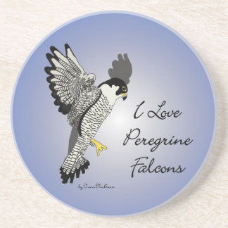 Peregrine Falcon Sandstone Drink Coaster