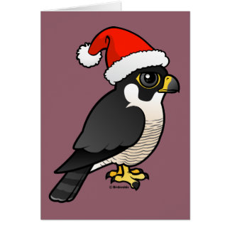 Peregrine Falcon Santa Card