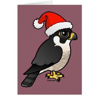Peregrine Falcon Santa Greeting Card