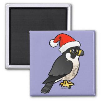 Peregrine Falcon Santa Square Magnet