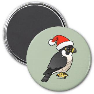 Peregrine Falcon Santa Refrigerator Magnets