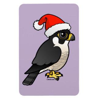 Peregrine Falcon Santa Rectangular Magnet