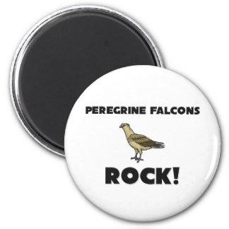 Peregrine Falcons Rock Refrigerator Magnets