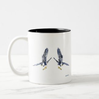 Peregrine Falcons Two-Tone Coffee Mug