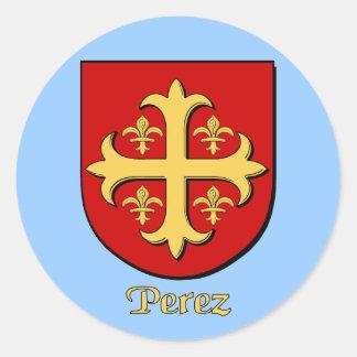 Perez Family Shield Stickers